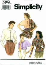Simplicity 7382 Pullover Top & Scarf Size 6 - 24 - Bust 30 1/2 - 46