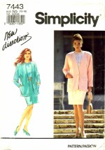 Simplicity 7443 Blouse Skirt Jacket Suit Size 10 - 18