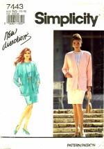 Simplicity 7443 Blouse Skirt Jacket Suit Size 10 - 18