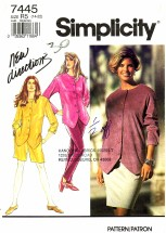 Simplicity 7445 Sewing Pattern Misses Pants Shorts Skirt Top Size 14 - 22 - Bust 36 - 44