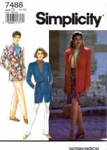 Simplicity 7488 Sewing Pattern Misses Jacket Pants Shorts Sarong Skirt Size 12 - 14 - 16