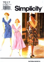 Simplicity 7617 Sewing Pattern Front Wrap Full Slim Skirt Size 10 - 16