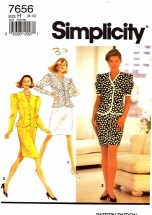 Simplicity 7656 Sewing Pattern Two-Piece Dress Size 6 - 8 - 10