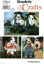Simplicity 7864 Stuffed Dalmation & Clothes