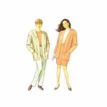 Misses Pants Skirt Jacket Simplicity 7955 Vintage Sewing Pattern Size 6 thru 24