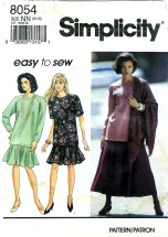 Simplicity 8054 Misses Skirt Tunic Scarf Size 10 - 16