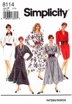 Simplicity 8114 Slim or Flared Dress Size 12 - 16 - Bust 34 - 38