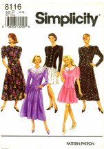 Simplicity 8116 Sewing Pattern Misses Full Skirt Top Size 12 - 16
