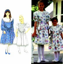Girls Dress Attached Petticoat Jessica McClintock Simplicity 8253 Sewing Pattern Size 3 - 4 - 5 - 6