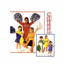 Girls Cheerleader Outfits Simplicity 8278 Sewing Pattern Size 8 - 10 - 12