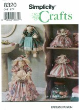 Simplicity 8320 Crafts Bathroom Bunnies Towel Holder Air Freshener