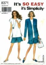Simplicity 8371 Tunic Shorts Jacket Size 6 - 16 - Bust 30 1/2 - 38
