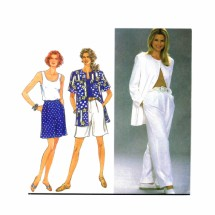 1990s Pants Shorts Top Jacket Christie Brinkley Simplicity 8372 Sewing Pattern Size 10 - 12 - 14