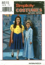 Simplicity 8515 Fairy Tale Costumes Size 7 - 14