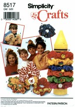 Simplicity 8517 Hair Scrunchies & Purse