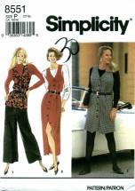 Simplicity 8551 Jumper Vest Pants Size 12 - 16 - Bust 34 - 38