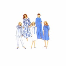 Misses Nightgown Pajamas Robe Simplicity 8712 Vintage Sewing Pattern Size 18-20-22-24