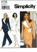 Simplicity 8733 Pants Skirt Jacket Size 6 - 10 - Bust 30 1/2 - 32 1/2