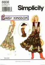 Simplicity 8808 Daisy Kingdom Skirt Sash Blouse Vest Size 6 - 10