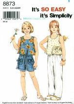 Simplicity 8873 Girls Pants Shorts Top Size 2 - 6