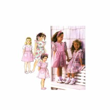 Girls Dress Pinafore Jumper Simplicity 8889 Sewing Pattern Size 5 - 6 - 6X