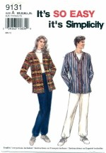 Simplicity 9131 Shirt & Pull-On Pants Size XS - XL
