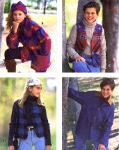 Girls Boys Jacket Vest Hat Simplicity 9147 Sewing Pattern Size 12 - 14