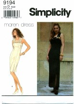 Simplicity 9194 Shoulder Strap Evening Dress Size 4 - 8
