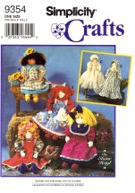 Simplicity 9354 Elaine Heigl Crafts Dolls & Clothing