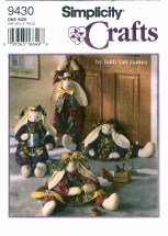 Simplicity 9430 Crafts Draftstopper or Decorative Bunny & Clothes