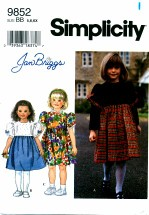 Simplicity 9852 JAN BRIGGS Girls Dress Size 5 - 6X