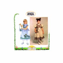 Girls Full Skirt Dress and Purse Simplicity 7087 Sewing Pattern Size 5 - 6 - 6X