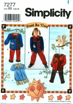 Simplicity 7277 Girls Pants & Shorts Sets Size 5 - 8