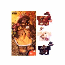 Stuffed Bear Dress Hats Jackets Simplicity 7606 Crafts Sewing Pattern