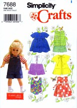 Simplicity 7688 Sewing Pattern Fits American Girl Doll Clothes
