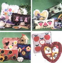 Appliqued Pillows Home Decorating Simplicity 7747 Sewing Pattern