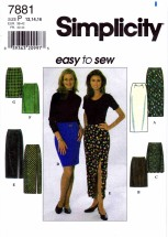 Simplicity 7881 Sewing Pattern Misses Skirts Size 12 - 14 - 16