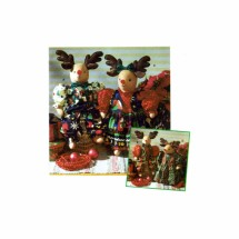 Reindeer and Clothes Christmas Simplicity 7893 Sewing Pattern Holiday Collection