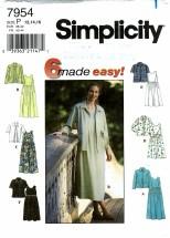 Simplicity 7954 Dress & Jacket Size 12 - 16 - Bust 34 - 38