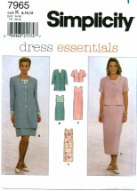 Simplicity 7965 Dress & Jacket Size 8 - 12