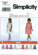 Simplicity 7987 Girls Dress Size 5 - 8