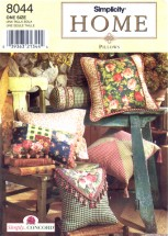 Simplicity 8044 Home Decorating Pillows Sewing Pattern