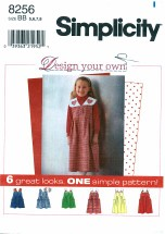 Simplicity 8256 Girls Jumper with Detachable Collar Size 5 - 8
