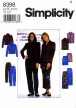 Simplicity 8398 Sewing Pattern Misses Jacket Vest Skirt Pants Size 8 - 10 - 12