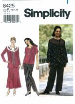 Simplicity 8425 Jacket Top Skirt Pants Size 12 - 16 - Bust 34 - 38