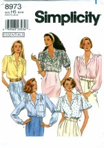Simplicity 8973 Blouse with Sleeve Variations Size 6 - 14 - Bust 30 1/2 - 36