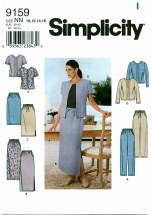 Simplicity 9159 Misses Pants Jacket Skirt Size 10 - 16