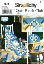 Simplicity 9169 Quilt Block Club Wall Quilt Chair Cover Pillow Valance