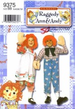 Simplicity 9375 Raggedy Ann and Andy Costume Sewing Pattern Size 3 - 5 - 6 - 7 - 8