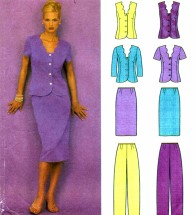 Misses Tops Skirt Pants Simplicity 9558 Sewing Pattern Size 6 - 8 - 10 - 12